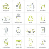 Recycling icons concept — Stock Vector