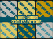 Set of seamless pattern — Stock Vector
