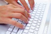 Typing Keyboard — Stock Photo