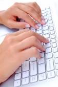 Hands Keyboard — Stock Photo