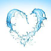 Heart Water Splash — Stock Photo