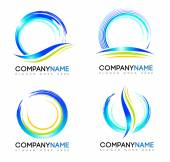 Water Splash Logo — Stock Vector