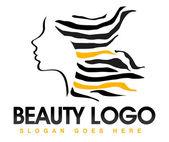 Beauty Hair Logo — Stock Photo