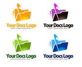 Documents Logo — Stock Photo