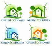 Eco House Logo — Stock Photo