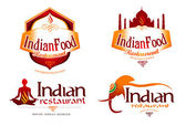 Indian Food Logo — Stock Photo