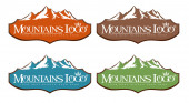 Mountains Logo — Foto Stock