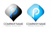 Letter P Logo — Stock Photo
