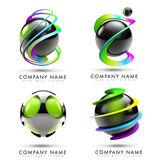 球のロゴ — ストック写真