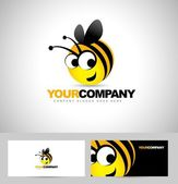 Bee Logo Design Concept — Stock Vector