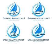 Sailing Boat Logo — Stock Vector
