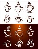 Coffee Cup Icon Set — Stock Vector