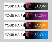 Vlasy salon logo — Stock vektor