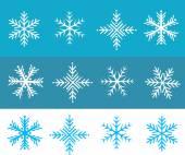 Snow flakes illustration — Stock Vector