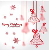 Christmas vector postcard illustration — Stock Vector