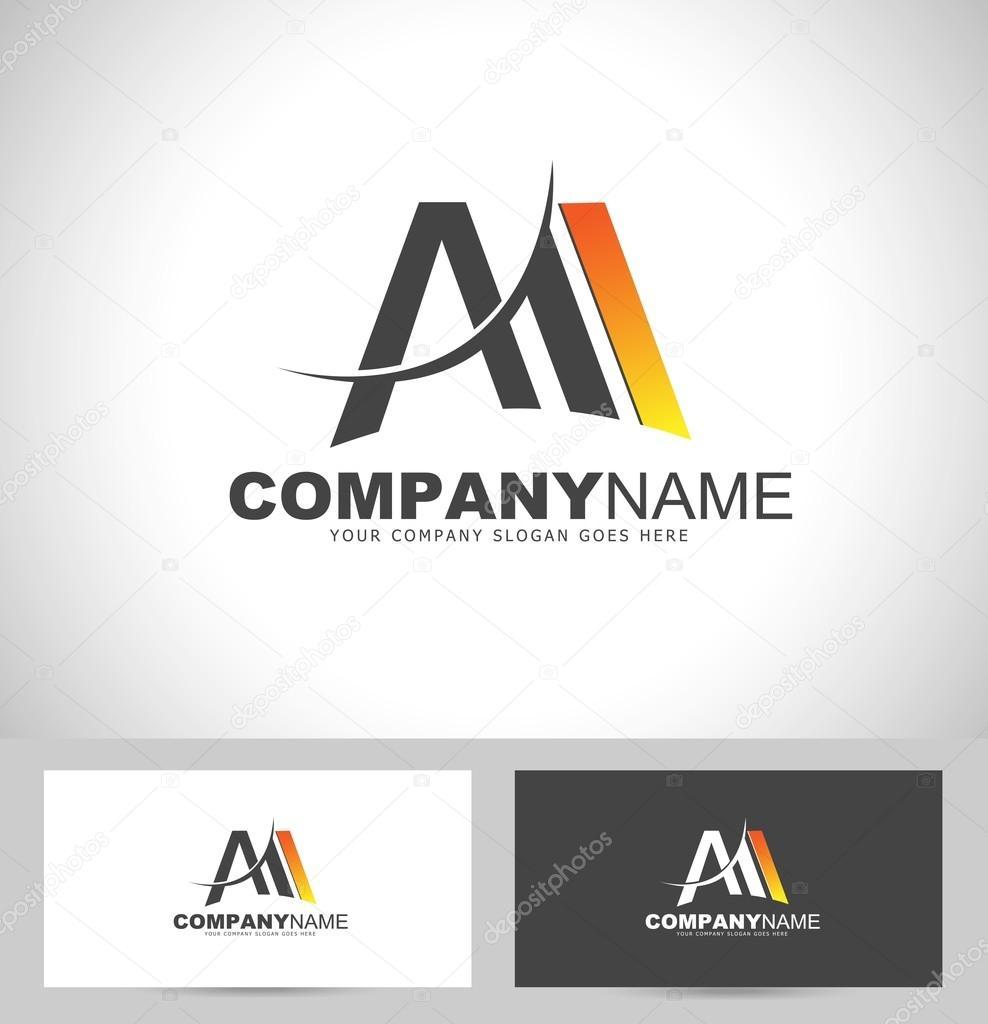 letter m logo design � stock vector 169 twindesigner 66982485