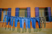 Jeans Drying on a Clothesline — Stockfoto