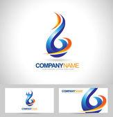 Blue Flame Logo — Stock Vector