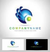 Corporate Blue Sphere — Stock Vector