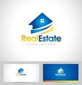 Rea inmobiliaria Logo — Vector de stock