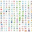 Creative Logo Set (350 Items, Business, Nature, Real Estate, Sport, Letters) — Stock Vector #73828277