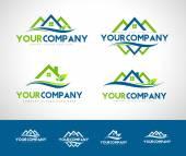 Real Estate Logo Set — Stock Vector
