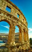 Temple Colloseum Amphitheatre — Stock Photo