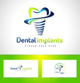 Dental Implants Logo — Stock Vector