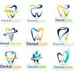 Постер, плакат: Dental Dentist Logo Set