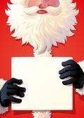 Santa Claus holding a sing — Stock Vector