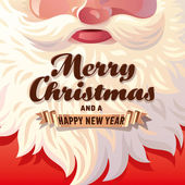 Santa Claus Beard Card — Stock Vector