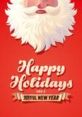 Holiday Greeting Card — Stock Vector