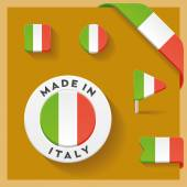 Italy Made Symbol Collection — Stock Vector