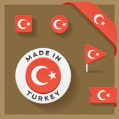 Turkey Made Symbol Collection — Stock Vector
