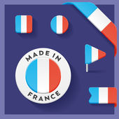 France Made Symbol Collection — Stock Vector