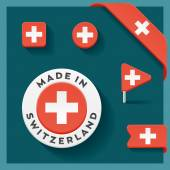 Switzerland Made Symbol Collection — Stock Vector
