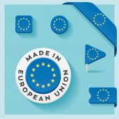European Union Made Symbol Collection — Stockvektor