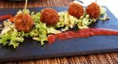 Spanish food in Salou — Stock Photo