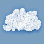 Fancy cloud made lines, vector isolated object — Stock Vector