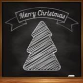 Hand-drawn christmas tree — Stock Vector