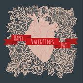 Heart doodle — Stock Vector