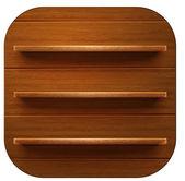 Wooden shelves background — Stock Vector