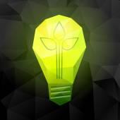 Eko enerji kavramı — Stok Vektör