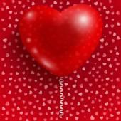 红色的心气球 — 图库矢量图片