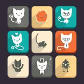 Cats and animal icons — Stock Vector