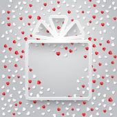 Gift box and confetti — Stock Vector