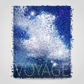 Abstract voyage background with square dots — Stock Vector