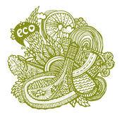 Green world concept — Stock Vector