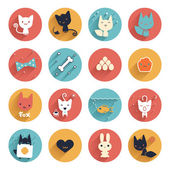 Cute animals avatar — Stockvektor