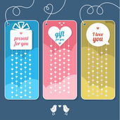 Gift cards with hearts — Stock Vector